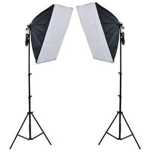 Softbox lighting kit photo studio video light diffuser