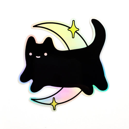 Midnight Baby Cat Holographic Sticker