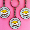 Make S'mores Not Wars Keychain