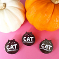 Black Cat Enthusiast Enamel Pin
