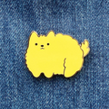 Floofy Pup Enamel Pin