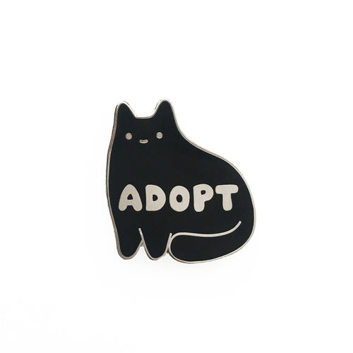 Adopt Enamel Pin (Black Version)