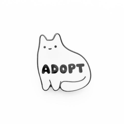 Adopt Enamel Pin (White Version)