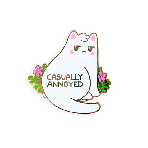'Casually Annoyed' Enamel Pin