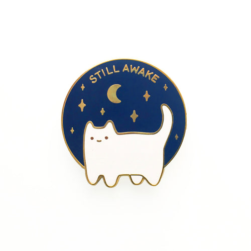 Still Awake Enamel Pin