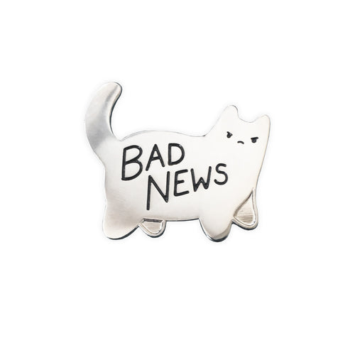 Bad News Enamel Pin