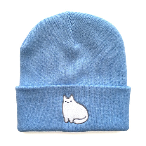Light Blue Baby Cat Beanie