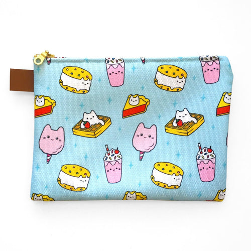 Dessert Cats Zipper Pouch
