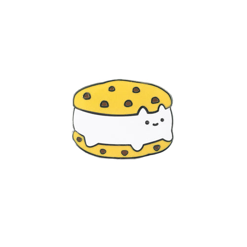 Cookie Sandwich Cat Enamel Pin - Chocolate Chip