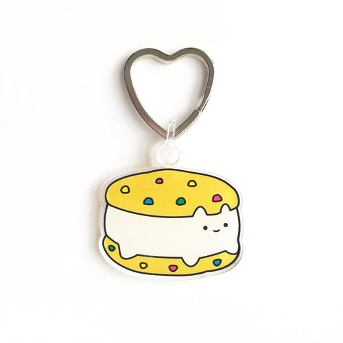 Cookie Sandwich Cat Keychain
