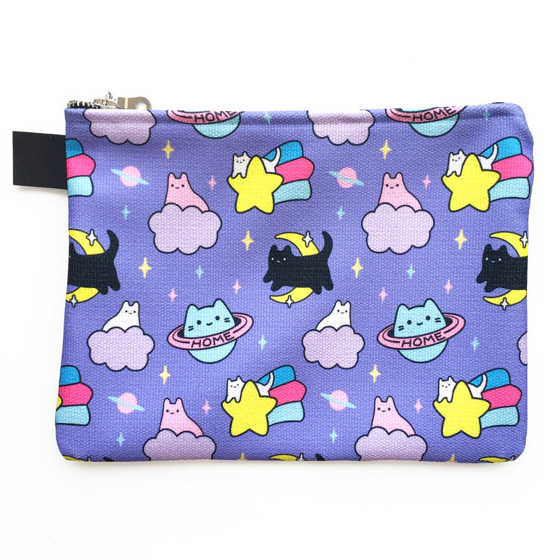 Cosmic Cats Zipper Pouch