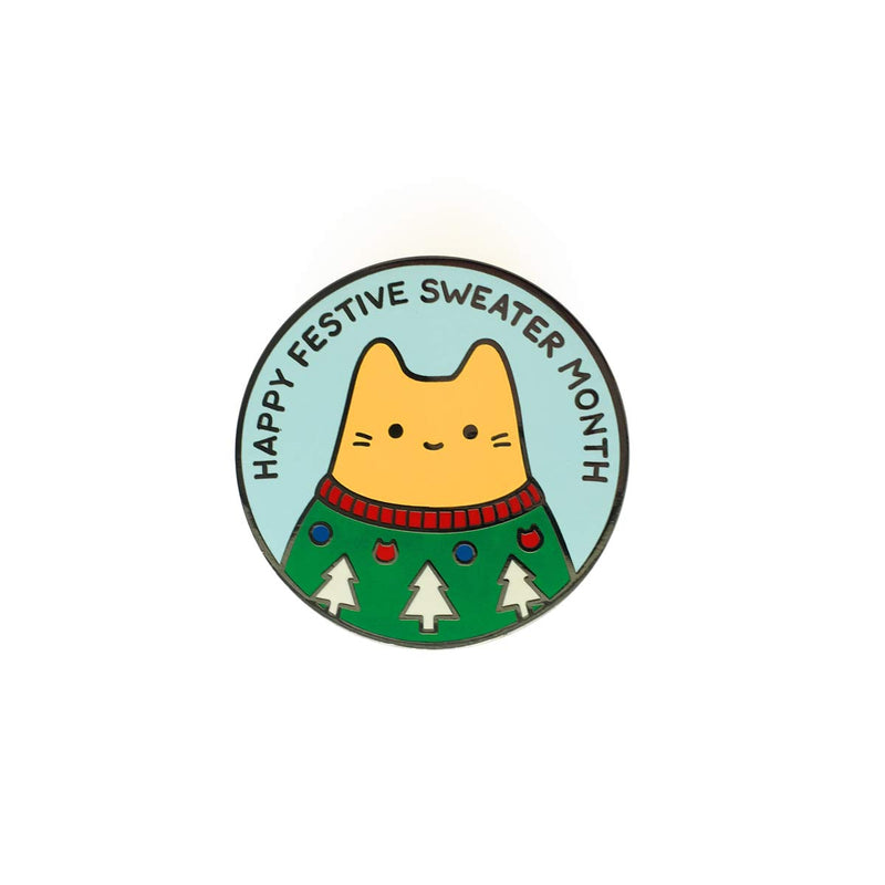 Festive Sweater Enamel Pin