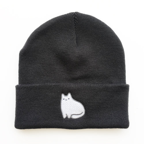 Dark Grey Baby Cat Beanie
