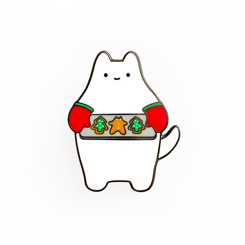 Holiday Cookie Cat Enamel Pin