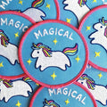 bright blue rainbow cute kawaii minimalist patches