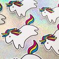 rainbow sparkle collective cute unicorns stickers