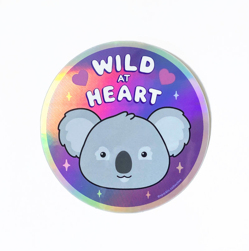 'Wild at Heart' Koala Holographic Sticker