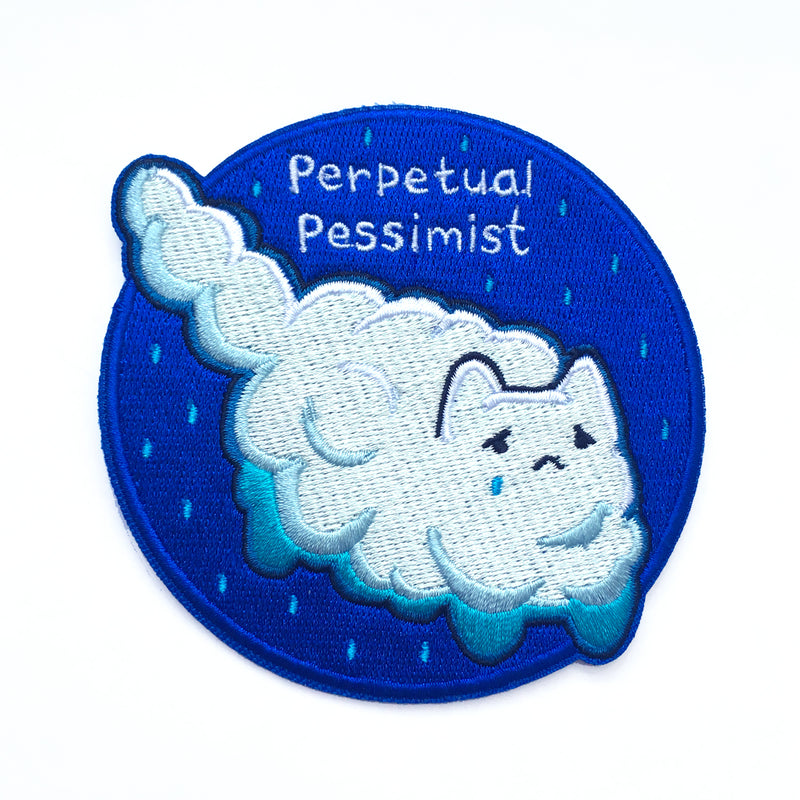 Perpetual Pessimist Iron-on Patch