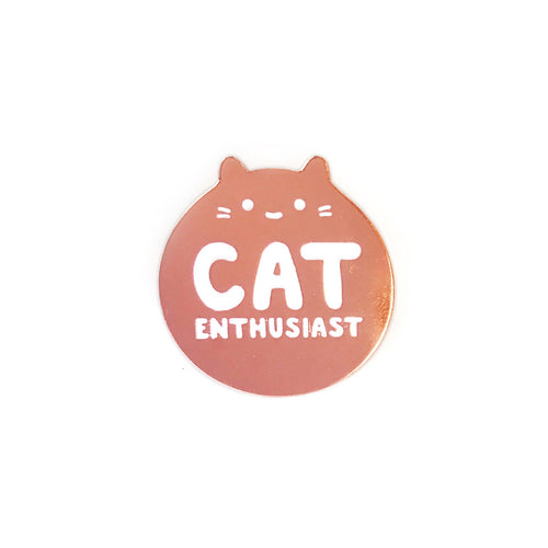 rose gold cute kawaii kitten enamel lapel pin badge