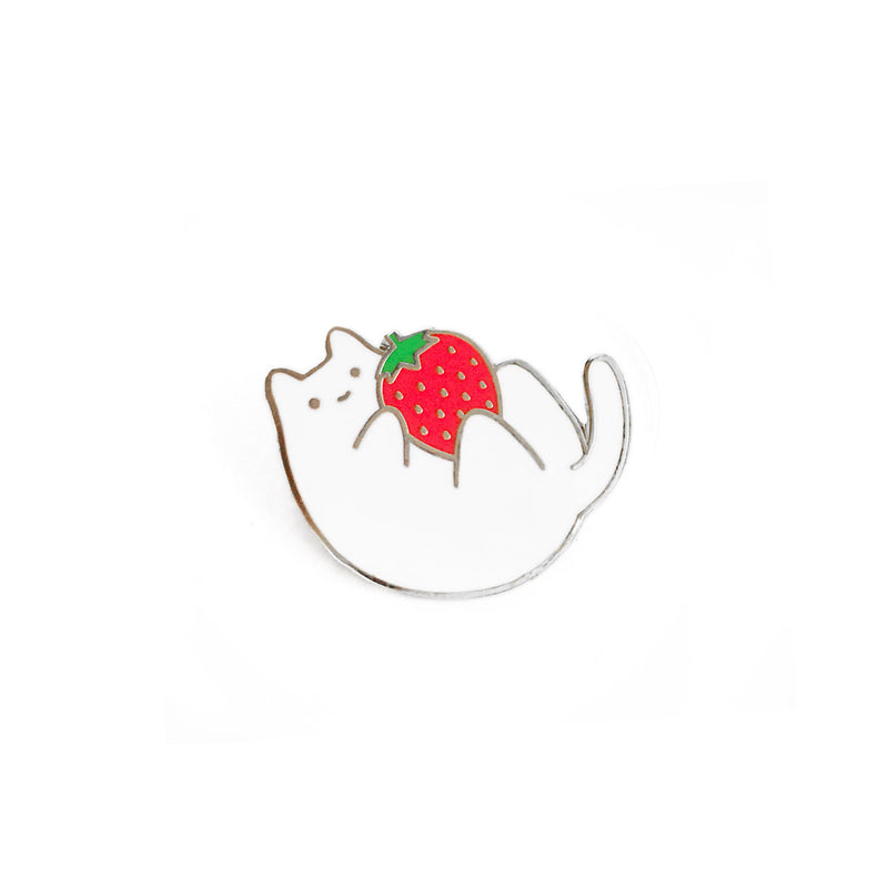 Strawberry Baby Cat Enamel Pin
