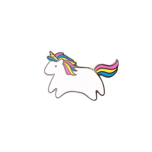 rainbow kawaii unicorn pony cute enamel lapel pin badge