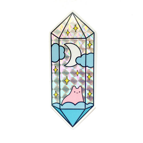Mystical Crystal Prismatic Sticker