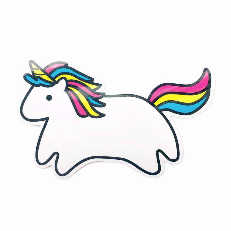 rainbow cute kawaii minimalist unicorn illustration decal sticker