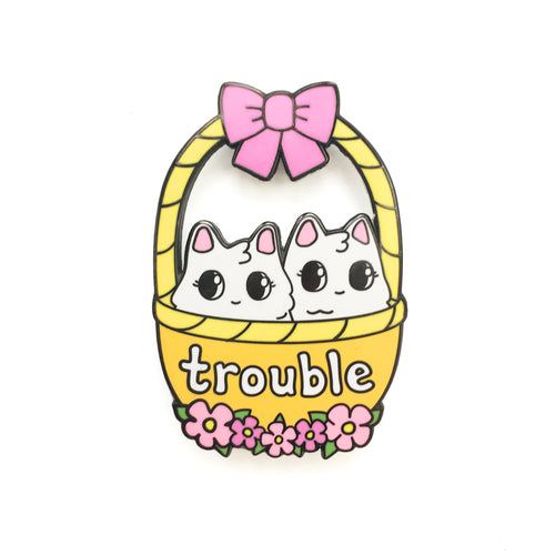 Trouble Enamel Pin