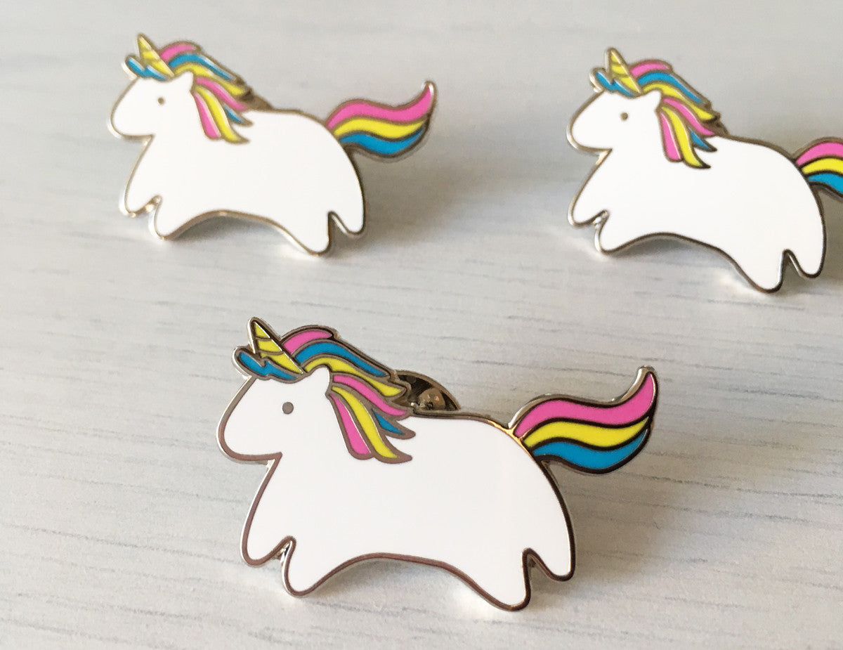 Minimalist Unicorns Illustrated Rainbow Cute Pins