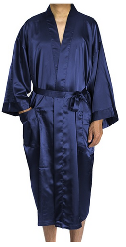 Mens Satin Robe BLANK