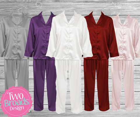 Bridesmaid Satin Pajama Set, Bridesmaid PJ's