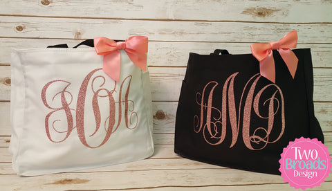 Bridesmaid Tote Bag, Maid of Honor Tote, Bride Tote, Monogrammed Tote