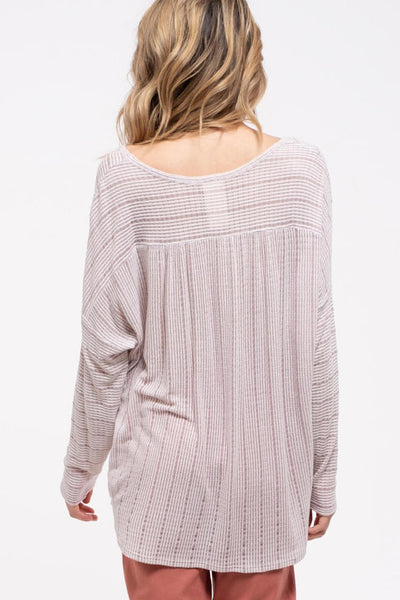Long Sleeve Knit Top - EmmaClaireFashions