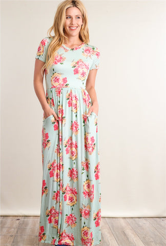Floral Maxi Dress - EmmaClaireFashions