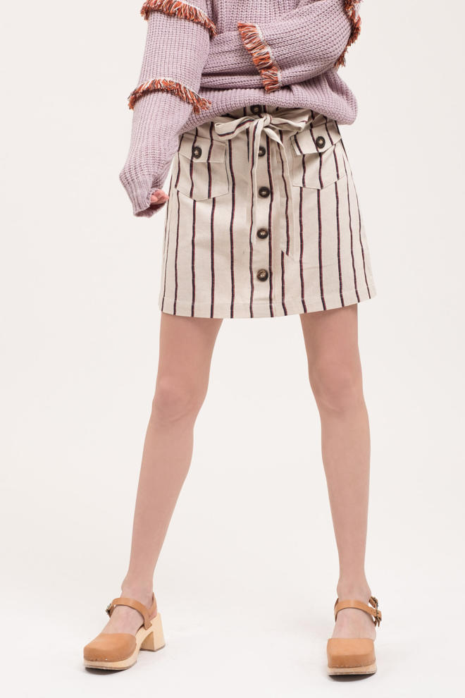 Striped Skirt - EmmaClaireFashions