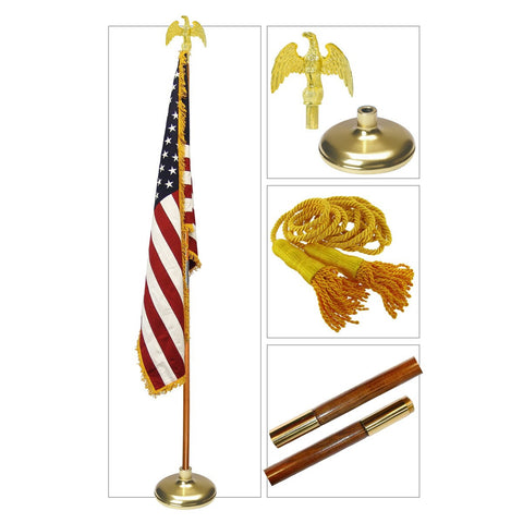 G-SPEC  9FT American Indoor Flag Set by Valley Forge