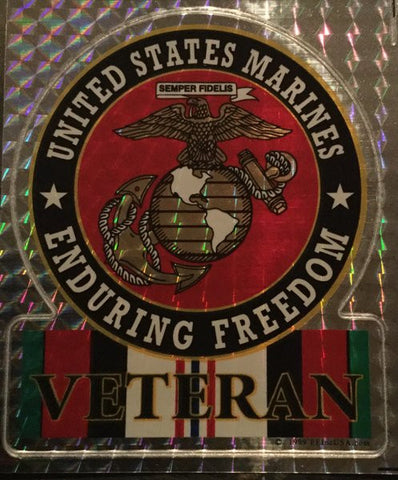 UNITED STATES MARINES ENDURING FREEDOM BUMPER STICKER