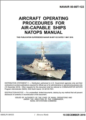 AIRCRAFT OPERATING PROCEDURES FOR AIR-CAPABLE SHIPS NATOPS MANUAL NAVAIR 00-80T-122 15 DEC 2018