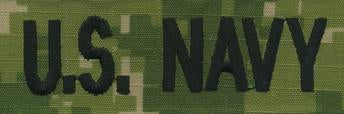 NWU Type III NAVY TAPE: U.S. NAVY WOODLAND DIGITAL