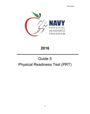 NAVY PHYSICAL READINESS PROGRAM GUIDE 5