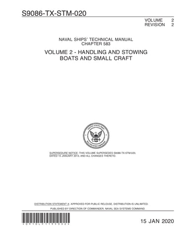 S9086-TX-STM-020 NSTM 583 HANDLING AND STOWING BOATS AND SMALL CRAFT VOL 2 REV 2 15 Jan 2020