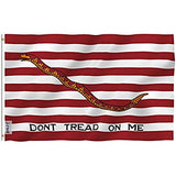 Anley Fly Breeze 3x5 Foot Don't Tread On Me Gadsden Flag - Vivid Color and UV Fade Resistant - Canvas Header and Double Stitched Polyester with Brass Grommets 3 X 5 Ft