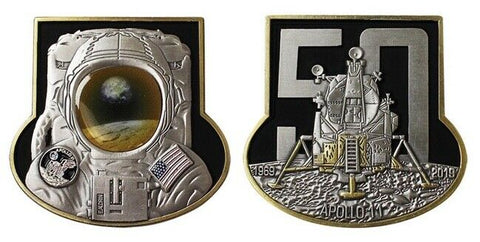 NAVY APOLLO 11 50TH ANNIVERSARY COIN (2 Inch)
