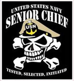 Chief Petty Officer mylar decal.