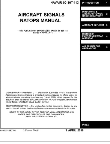 AIRCRAFT SIGNALS NATOPS MANUAL NAVAIR 00-80T-113 1 APRIL 2018
