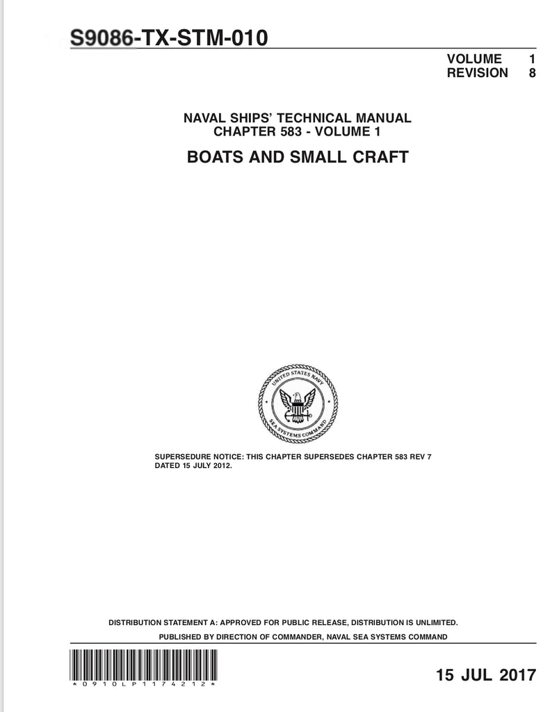 S9086-TX-STM-010 NSTM 583 BOATS AND SMALL CRAFT VOL 1 REV