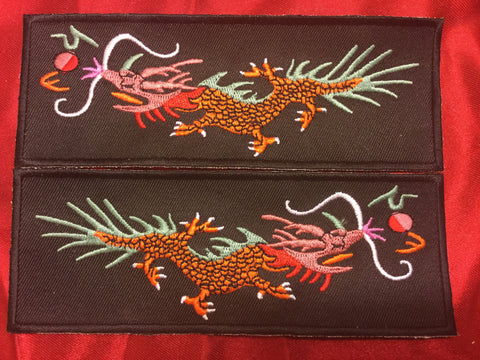 ORANGE BODY GREEN BACK FIREBALL DRAGON LIBERTY CUFF SET