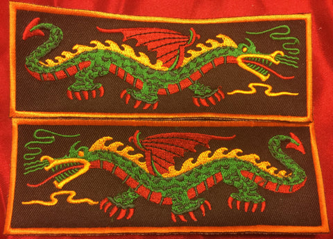 GREEN BODY YELLOW BACK RED WING DRAGON LIBERTY CUFF SET