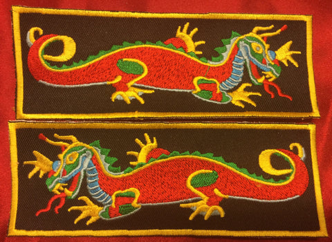 RED BODY MULTI-COLOR DRAGON LIBERTY CUFF SET