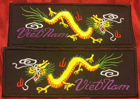 YELLOW BODY GREEN BACK VIETNAM DRAGON LIBERTY CUFF SET